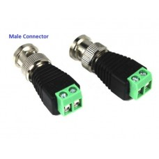 [10PCS] CCTV BNC 12V/24V DC Power Connector with Male AV Balun Screw Terminal [VTR]