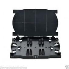 HTI 12/24 Core Fiber Optic Splice Tray c/w cover (BLACK)