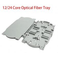 HTI 12/24 Core Fiber Optic Splice Tray c/w cover (WHITE)