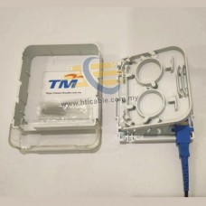 FTTH Fiber Optic Terminal Box / Junction Box / Fiber Optic Wall Socket - Simplex – Indoor Use (RDVTB)