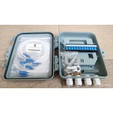 12 Port  Fiber Optic FTTH Termination Box (FTB) / Distribution Box (Waterproof with Keylock) [OEDB]