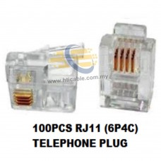TM Passed Telephone Unshielded (UTP) Cat 3 / RJ11 6P4C Phone Plug(100pcs / pack)
