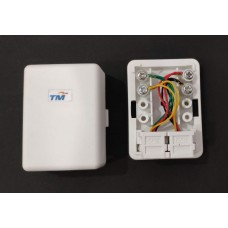 1 Way / 2 Way Cat 3 / RJ11 6P4C TM Test Passed Telephone Socket Jack / Telephone Adapter Junction Box [ETNTB]