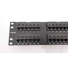 Commscope/AMP UTP CAT 5E Patch Panel 2U-48 Ports (HVDR)