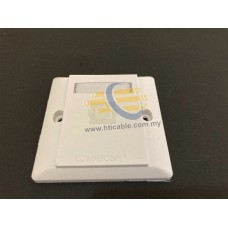 Commscope AMP® faceplate – Flat 1Gang RJ45 Cat 5e/6 [WDVB]