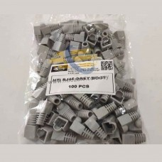 HTI RJ45 Rubber Boot / HTI Modular Plug Cover / RJ45 End Cap (For Cat.5e/Cat.6 / Cat 6A /Cat7) GREY, 100PCS