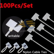 [100PCS] NYLON MARKING CABLE TIE FOR ALL CABLE (W#FDVTB)