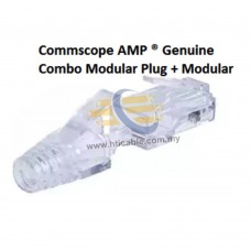 Commscope AMP® Genuine Unshielded (UTP) Combo RJ45 Cat6 Modular Plug + Transparent Modular Plug Cover (Modular Boot)