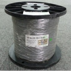 BELDEN (USA) 8761 SIGNAL CABLE / SCREEN AUDIO CABLE 2CORE 22AWG FRPVC 305METER / 1000 FEET TINNED COPPER (GREY/CHROME)